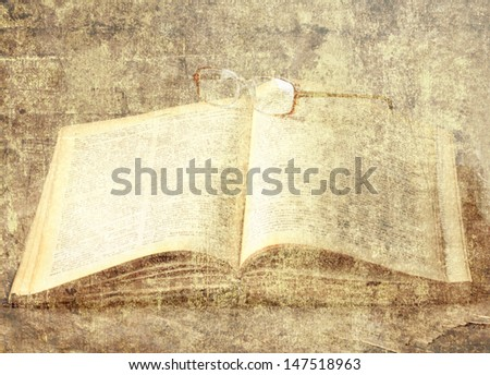 Vintage background with old books/ Vintage still life. - stock photo
