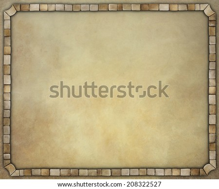 Vintage background with old stone frame.  - stock photo