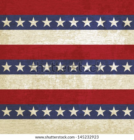 Vintage background with stripes and stars (vector version in portfolio) - stock photo