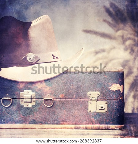 Vintage baggage. Travel concept. - stock photo