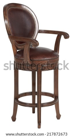 Vintage bar stool or chair - stock photo