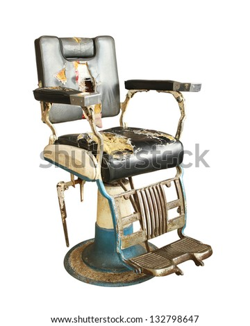 Barber chair stock photos illustrations and vector art