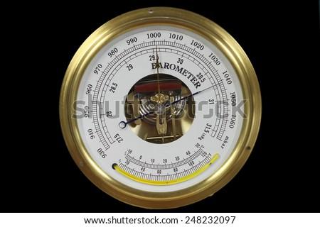 vintage barometer - stock photo