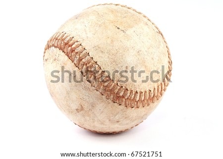 Vintage baseball ball - stock photo