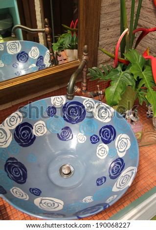 vintage basin - stock photo