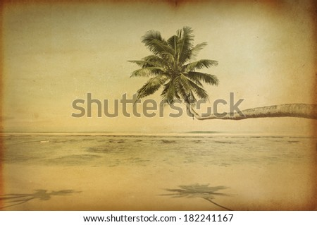 Vintage Beach Paradise - stock photo