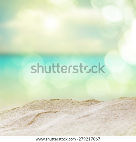 Vintage beach. vintage color filter effect. - stock photo