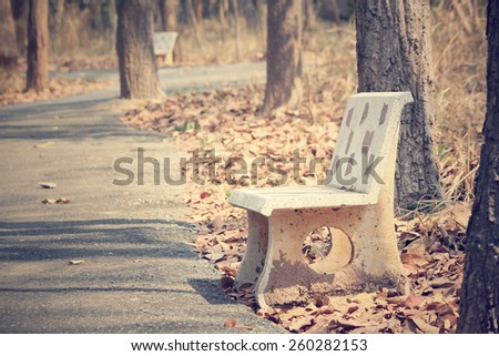Vintage bench chair - stock photo
