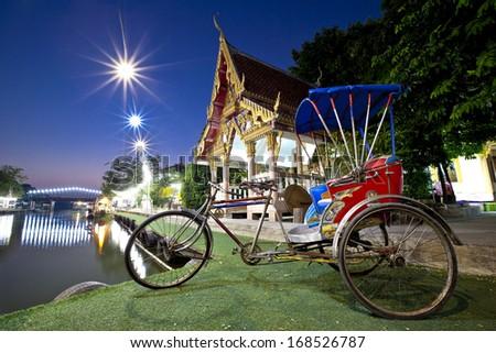 Vintage bicycle,vehicle urban in Bangkok  - stock photo