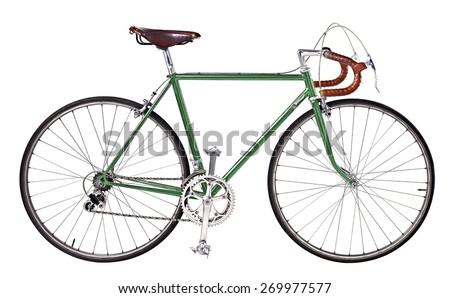 vintage bikes Dark Green - stock photo