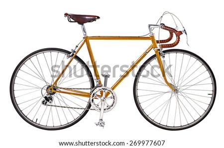 vintage bikes Orange - stock photo