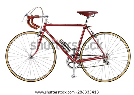 vintage bikes red - stock photo