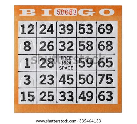 Vintage Bingo Card - stock photo