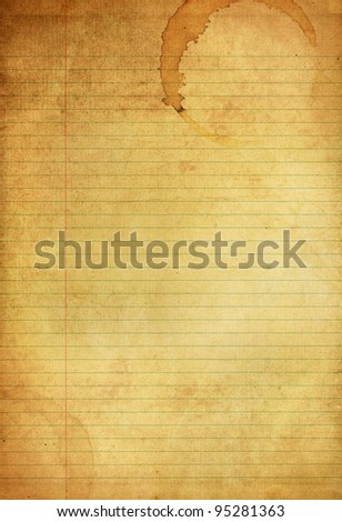 Vintage Blue and Red Lined grunge paper background - stock photo