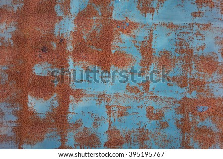 vintage blue rusty background - stock photo
