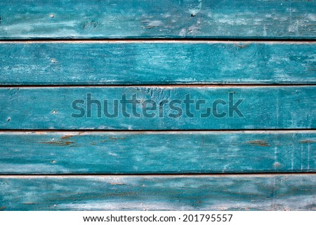 Vintage blue wooden wall texture. Blue wooden background - stock photo