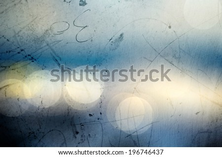 Vintage blurry old scratched photographic bokeh background - stock photo