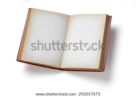 Vintage Book on white background. - stock photo