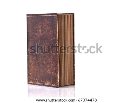 VINTAGE BOOK on white background - stock photo