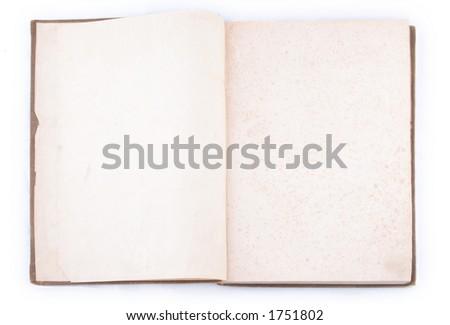 Vintage book  - open - stock photo