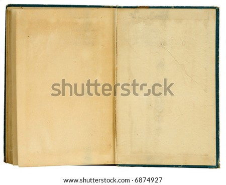 Vintage book open - stock photo