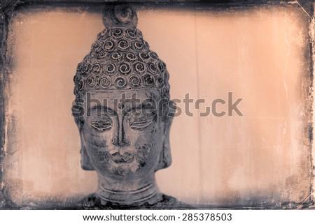 vintage buddha - stock photo