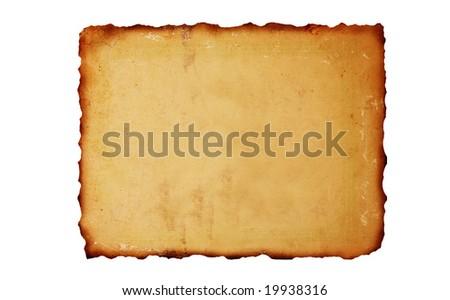 Vintage burned paper background - stock photo