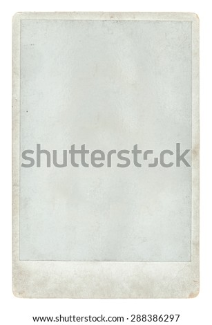 vintage cabinet photograph isolated on white background with clipping path - stock photo