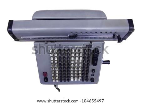 vintage calculator - stock photo