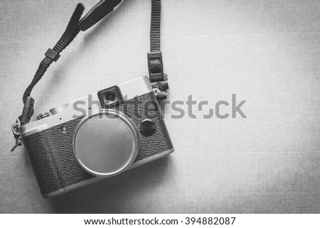Vintage camera that had been popular in the past - stock photo