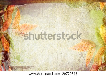vintage canvas background floral - stock photo