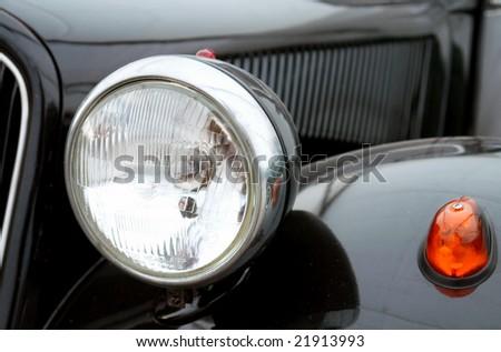 Vintage car detail. - stock photo