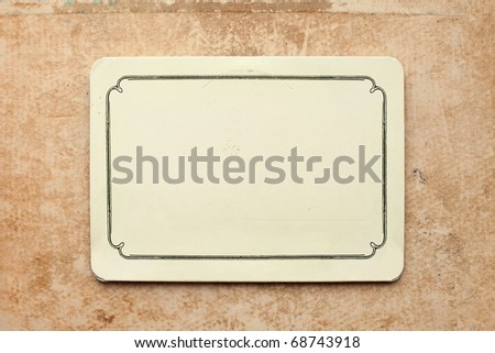 vintage card on old grunge paper background - stock photo