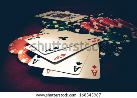 Vintage casino game - stock photo