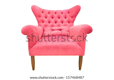 Vintage chair isolated  - stock photo