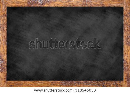 vintage chalk board background textures with old vintage wooden frame ,blackboard concept.use for work about backgrounds,design,decorate,business,education and etc. - stock photo