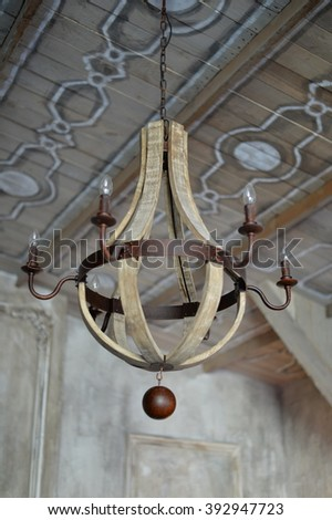 vintage chandelier - stock photo