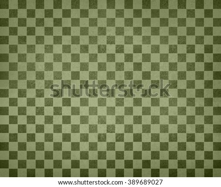 vintage checkered background pattern, rows of dark green and light green squares with distressed vintage texture, green checked wallpaper design, shabby chic country style - stock photo