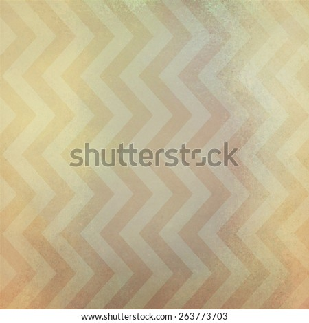 vintage chevron striped background pattern with dirty stained brown grunge texture and gold and white color zig zag lines - stock photo