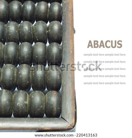 Vintage chinese abacus isolated on white background - stock photo