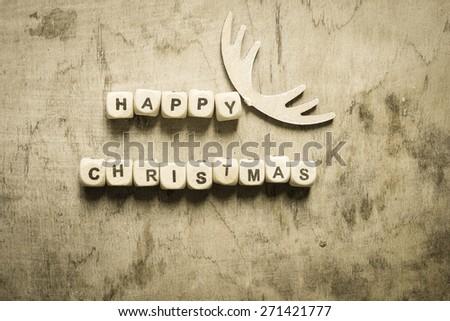Vintage Christmas background - stock photo