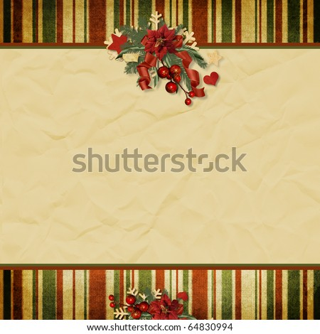 Vintage Christmas background with space for text or photo - stock photo