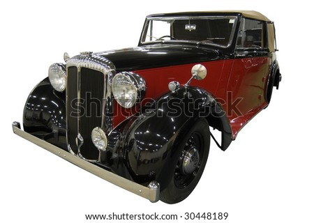 Vintage Classic Car over white (Path Included) - stock photo
