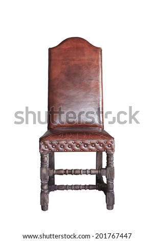 vintage classic chair isolated on white - stock photo