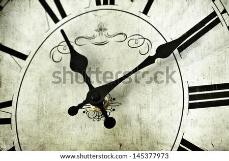 Vintage clock - stock photo