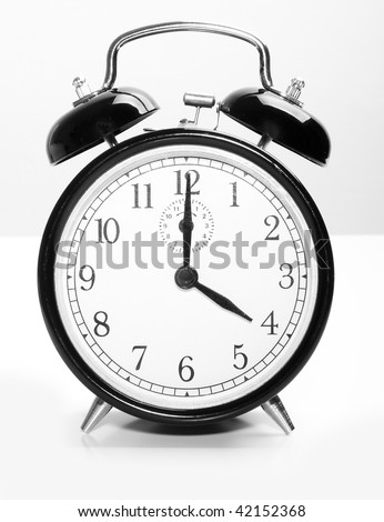 Vintage clock - stock photo