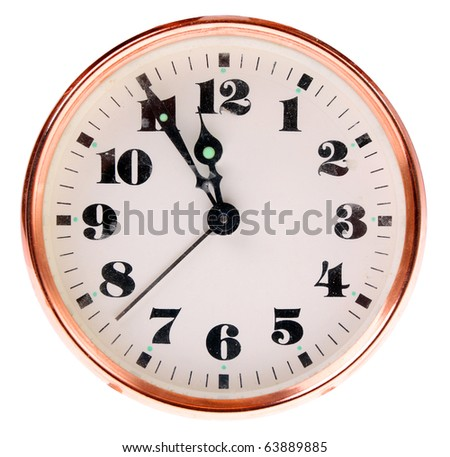 Vintage clock face. - stock photo