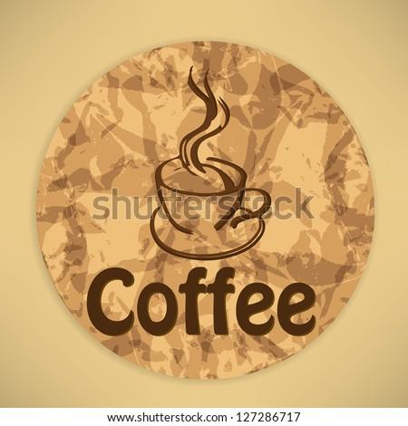 vintage coffee background - stock photo