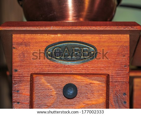 Vintage coffee mill - stock photo