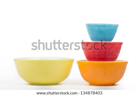 Vintage Collectible Baking Dishes - stock photo